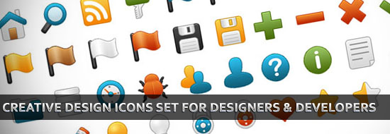 25+ Creative Design Icons Set for Web Designers & Developers