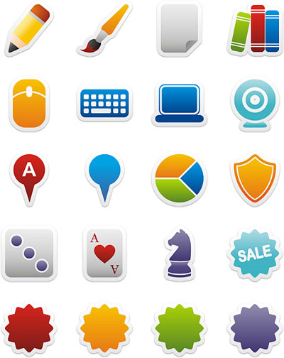Colorful Stickers Icons