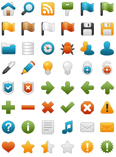 Onebit free icon set