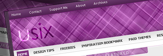Free Download Usix WordPress Theme – Free Premium Purple Theme