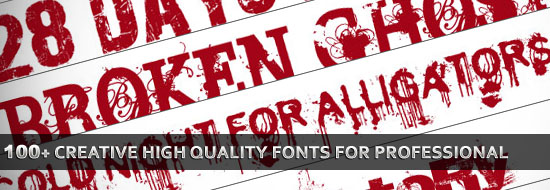 100+ Creative High Quality Free Fonts for Professional Graphic Designs