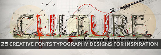 Post image of 25 Creative Fonts Typography Designs for Design Inspiration