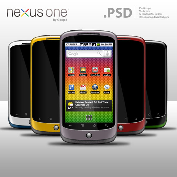 Google Nexus One PSD File