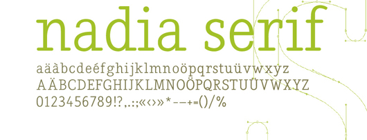 nadia serif - 70 Remarkable High Quality Free Fonts for Graphic Designers