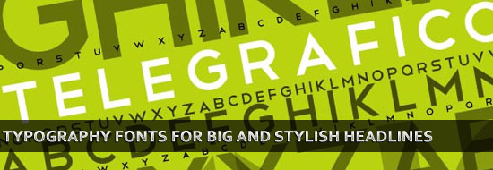 Post image of 20 Big Typography Fonts for Big and Stylish Headlines