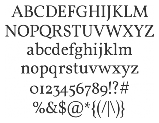 vollkorn - 70 Remarkable High Quality Free Fonts for Graphic Designers
