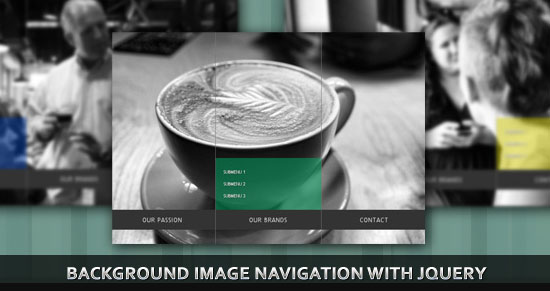 Full Page Background Image Navigation (Slide Effect) with jQuery