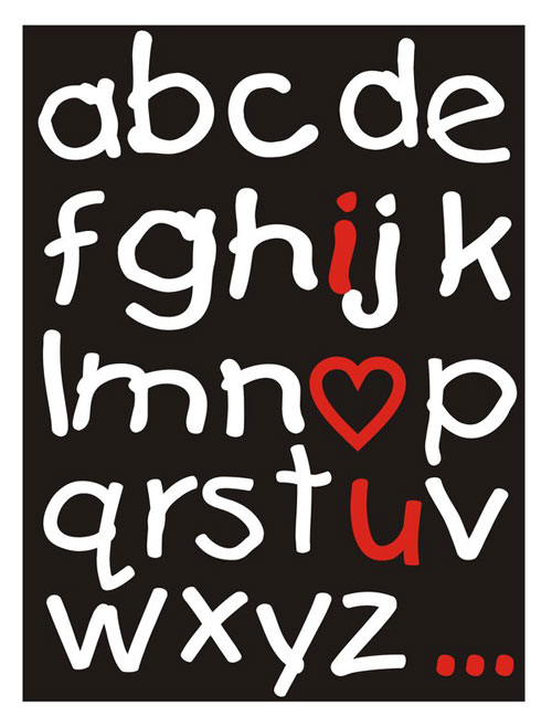 abc Ready For Print Typography Poster