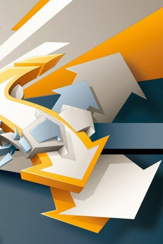 Abstract Arrow iPhone Wallpaper