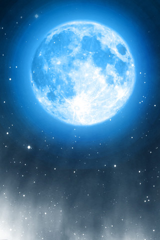 The Blue Moon iPhone Wallpaper