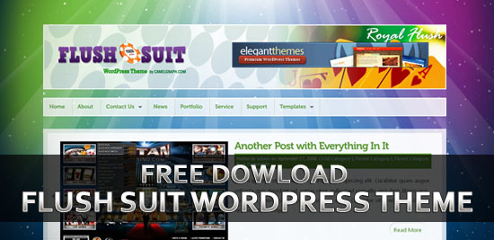 Free Download Flush Suit Amazing WordPress 3.0 Theme