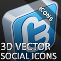 Post Thumbnail of Download 3D Vector Social Icons - Free Icon Pack