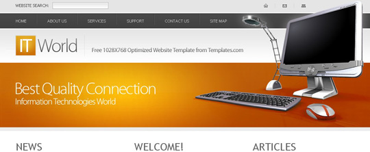 xhtml/css website templates