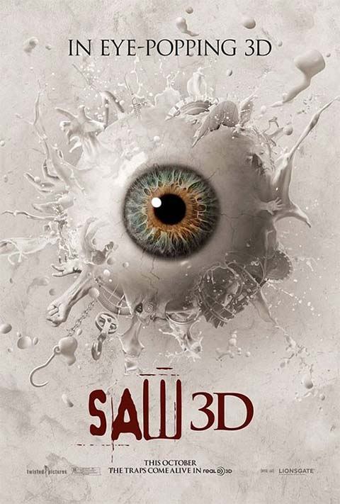 Saw-3D - 50+ Best Movie Posters of 2010 and 2011 - Movies Poster Showcase
