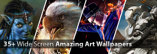 Amazing Art Wallpapers: 35+ Eye-Catching Wide Screen Wallpapers