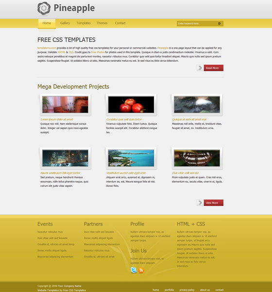 70 free xhtml css templates download now freebies for Html table css template