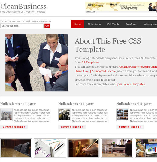 Csstemplates15 in 70+ Free XHTML/CSS Templates - Download Now