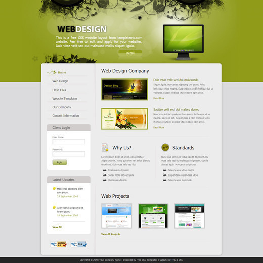 70+ Free XHTML/CSS Templates – Download Now | Freebies | Graphic ...