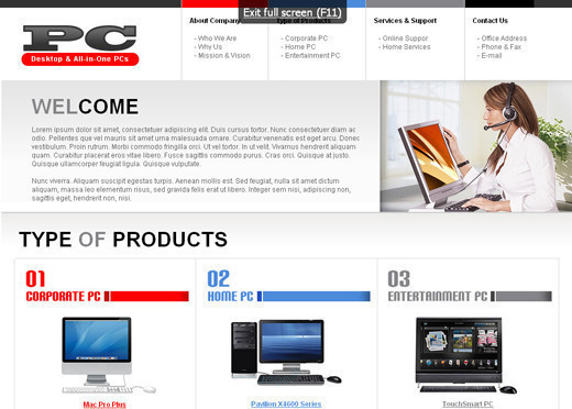 Csstemplates34 in 70+ Free XHTML/CSS Templates - Download Now