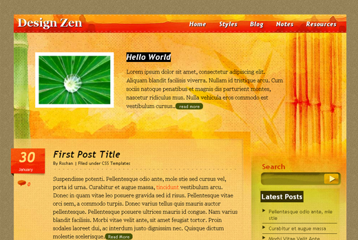 Csstemplates59 in 70+ Free XHTML/CSS Templates - Download Now