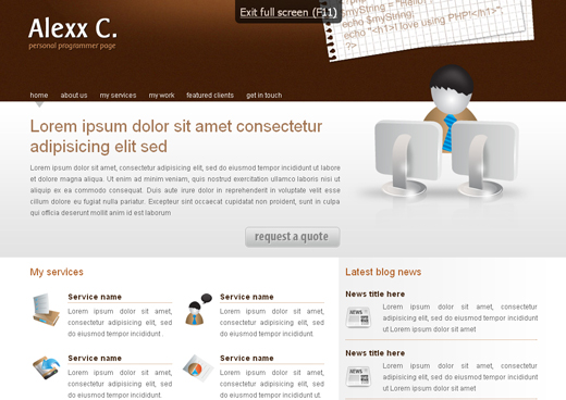 Csstemplates64 in 70+ Free XHTML/CSS Templates - Download Now