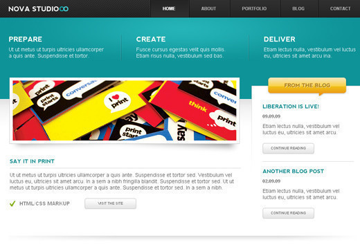 Csstemplates8 in 70+ Free XHTML/CSS Templates - Download Now
