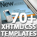 Post thumbnail of 70+ Free XHTML/CSS Templates – Download Now