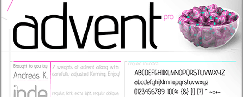 Advent Free Font