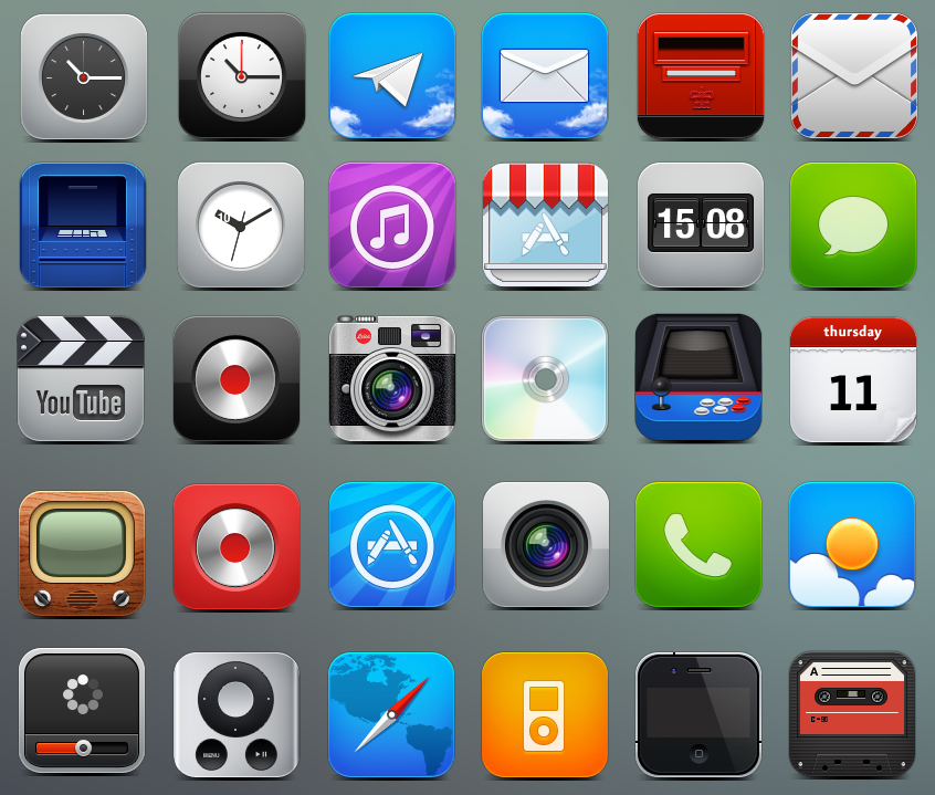IPhone Icons: 40 Icon Sets For Your IPhone