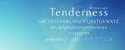 Tenderness Free Font