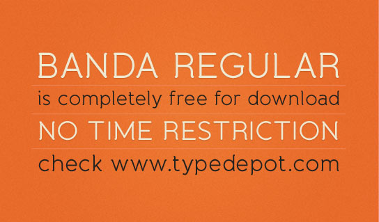 Banda Regular Free Font