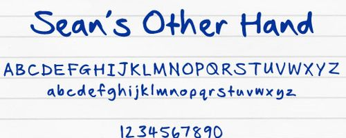 Seans Other Hand Free Font