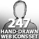 Post Thumbnail of Hand-Drawn Web Icon Set with 247 icons Free Download