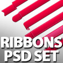 Post Thumbnail of Free Ribbons Set PSD For Designers