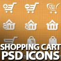 Post Thumbnail of 40 Free Vector Shopping Cart PSD Icons