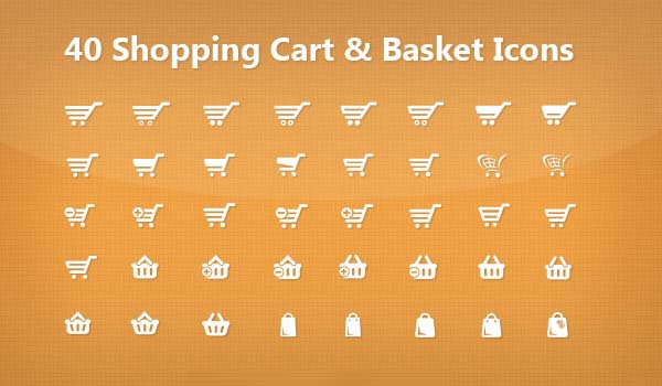 Free Vector Shopping Cart PSD Icons