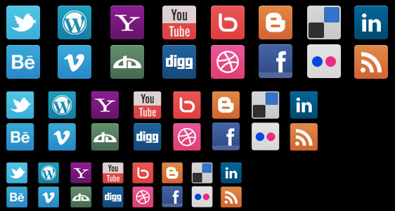 Clean Social Media Icons Set