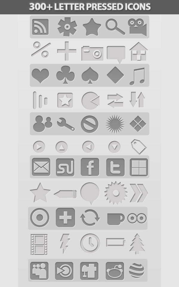 Free Letter Pressed Icons