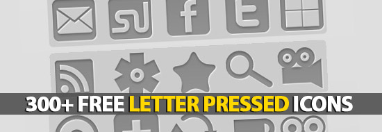 Post image of 300+ Free Letter Pressed Icons