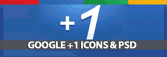 Post image of Google +1 Icon Packs & Google Plus One PSD