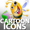 Post Thumbnail of Free Colorful Bee, Dolphin, Octopus & Alien Cartoon Icon Sets