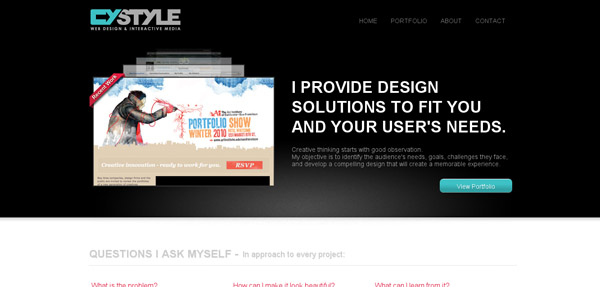 One Page Website Designs