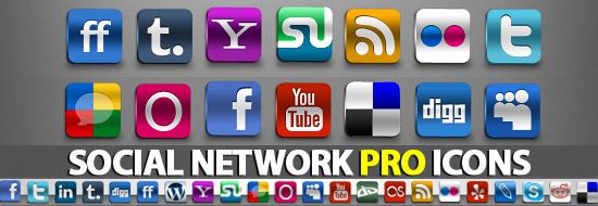 Free Professional Icons Set – Social Networks Icons