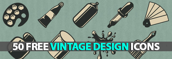Post image of 50 Free Vintage Design Icons