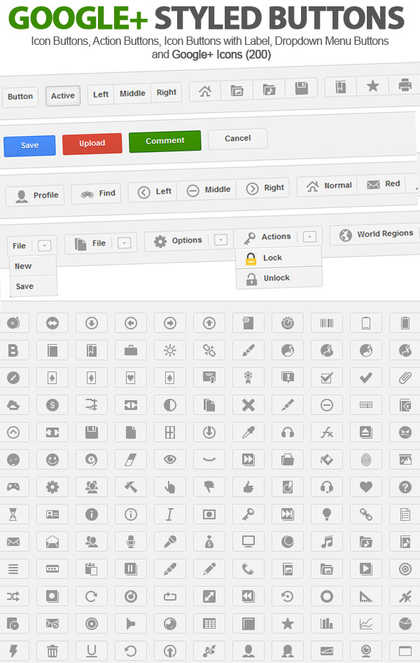 Google+ Styled UI Buttons