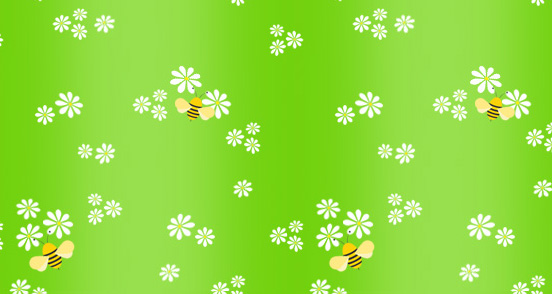 Bees Pattern Design