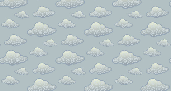 Stylized Cloud Pattern Design