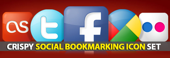 Crispy Social Bookmarking Icon Set