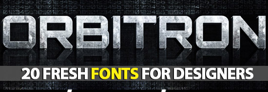 Post image of Free Fonts: 20 Fresh Fonts For Designers