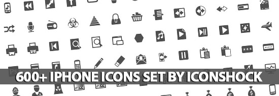 600+ iPhone Icons Set By IconShock